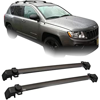 Amazon Com Kayak Jeep Rack Pair Roof Rack Cross Bars Fit 2011 2014 Jeep Compass Luggage Ski Kayak Carrier Office Products