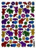 Los elefantes Multicolour 70 piezas 1 11 hojas pegatinas 135 mm x 100 mm manualidades niños pegatinas Metallic-look