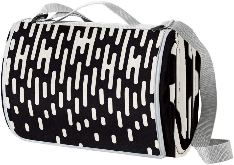 XJJUSC Black White Irregular Factory outlet Picnic Pattern Waterproof Manufacturer regenerated product Blanket