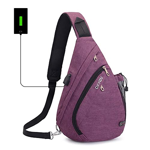 2fc13aa70d SINOKAL Sling Bag Chest Shoulder Backpack Casual Crossbody Shoulder  Triangle Packs Daypacks for Men Women Canvas