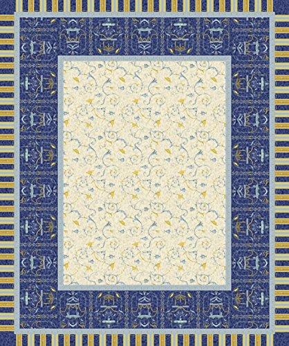 Bassetti OPLONTIS Tischdecke, Baumwolle, blau, 150 x 250 x 1 cm