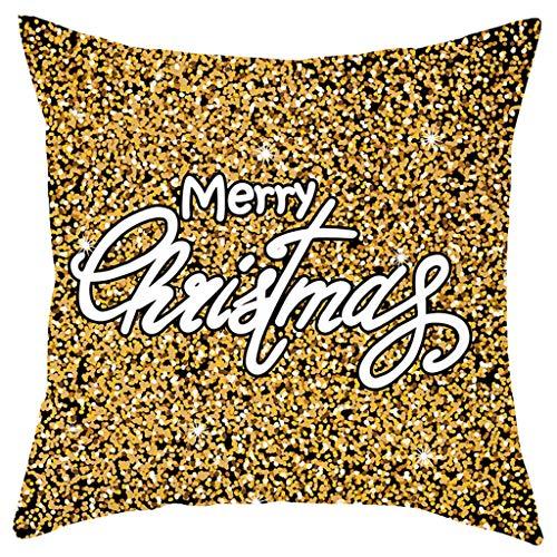 Allegorly Kissenbezug Kissenhülle Merry Christmas Decoration Bettwäsche Hirsch Sofa Cover Weihnachten Zierkissenbezüge Für Haus Dekoration