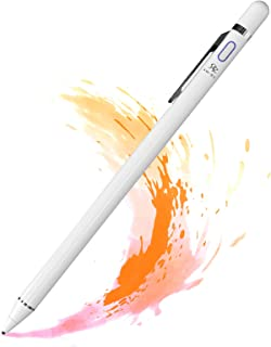 Penna Touch Screen per iPad,Stylus Pen Punta Fine da 1.5mm Pennino Ricaricabile Penne con USB Cavetto Compatibile con iPad...
