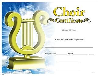 choir certificates