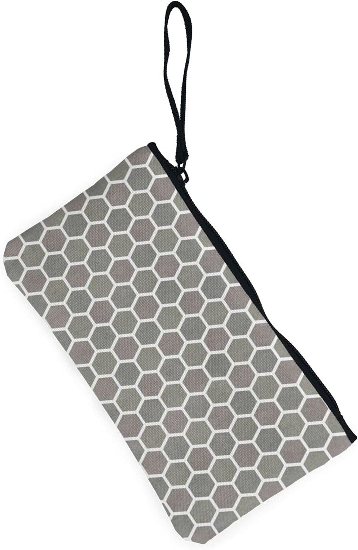 AORRUAM Hexagonal camouflage Canvas Coin Purse,Canvas Zipper Pencil Cases,Canvas Change Purse Pouch Mini Wallet Coin Bag