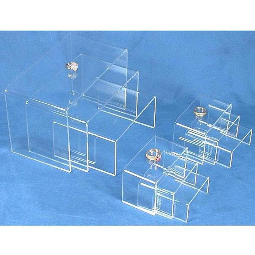 9 Clear Acrylic Risers Jewelry Display Stands