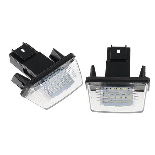 MagiDeal 2 Pcs Luz de Matrícula LED Faro Bombilla Accesorios Automóvil Motocicleta Coche Barco Repuesto de