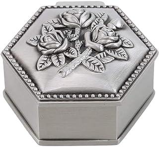 XIAOGINGV Mini Jewellery Box Organizzatore classico cuore antico dell'annata dei monili di figura di corsa della scatola d...