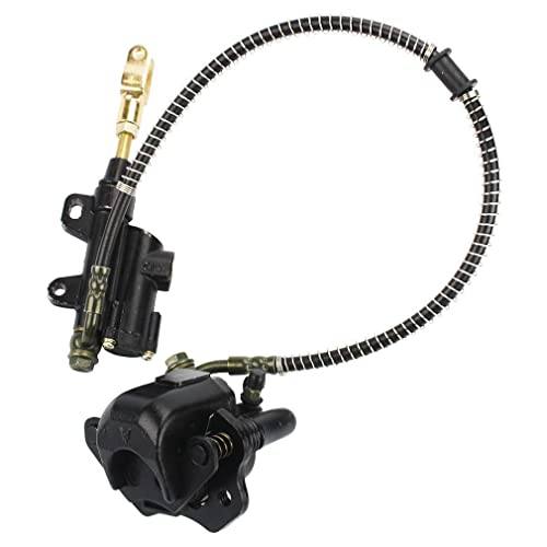 GOOFIT Rear Brake Master Cylinder Caliper Assembly for 50cc 70cc 90cc 110cc 125cc Chinese ATV Quad