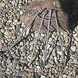 ToCi Felsbodenheringe 23 cm Stahl verzinkt |Zelthering Zeltnagel Erdnagel Felsnagel für Harte und steinige Böden |Heringe Set: 24 Stück - 6