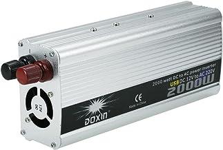 KKmoon 2000W Inversor de Corriente Portatil DC 12V a AC 220V