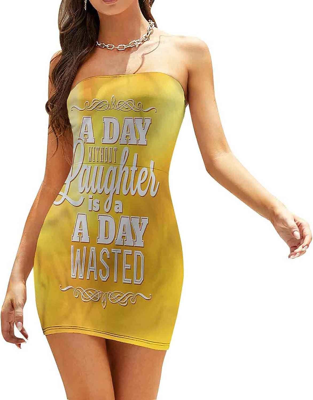 Women's Summer Strapless Dresses He Loves You Calligraphy Dresses