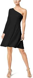 Calvin Klein Womens One-Shoulder Fit & Flare Dress