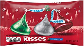 Holiday Hershey's Kisses Milk Chocolate, 11-Ounce Bag (Pack of 4)