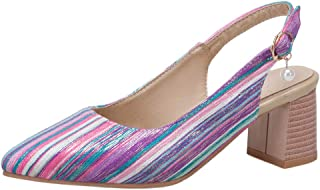 Melady Women Fashion Slingback Shoes Pointed Toe