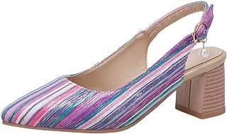 Zanpa Women Fashion Slingback Shoes Pointed Toe
