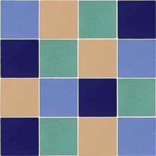 Tierra y Fuego Solid Tile Set - Sixteen (16) 4¼ x 4¼ in. Ceramic Tiles - Santa Barbara