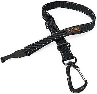 Mighty Paw Cinturón de Seguridad, el cinturón de Seguridad del Perro, Pestillo Barra de Archivos adjuntos para óptimo de Seguridad y protección, Todo el Metal de Hardware, stándar Negro