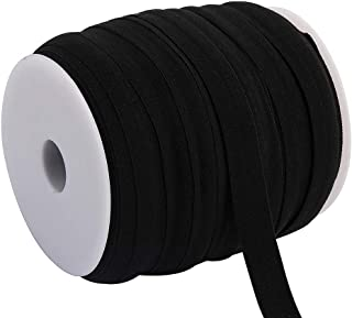 "RAYNAG 109-Yard Braided Elastic Band Stretch Nylon Cord Rope Flat Elastic 3/5"" Strong Replacement Elastic Roll, Making Scr..."