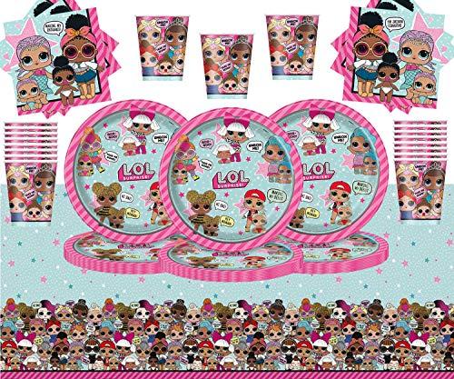 Kids Surprise Party Pack Vajilla de cumpleaños para niños 98 Piezas Suministros...
