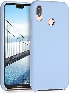 kwmobile telefoonhoesje compatibel met Huawei P20 Lite - Hoesje met siliconen coating - Smartphone case in mat lichtblauw