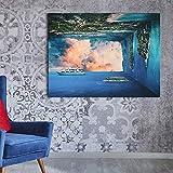 N / A Pintura sin Marco El Borde Mundial del Paisaje Mundial Astrato Travel Wall Art Pintura decoración ZGQ7577 60x75cm