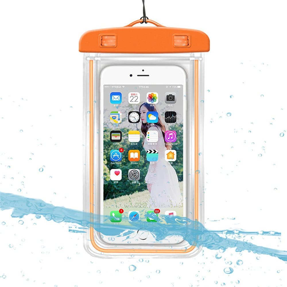 iPhone Waterproof Case,Waterproof Bag,3 Pack Noctilucent Cellphone Underwater Dry Pouch Waterproof Cases Cover for iPhone 12/11 Pro Max/Pro/8 Plus, Galaxy S21/S20/S10/Note 20/10/9, Pixel 4 XL up to 7
