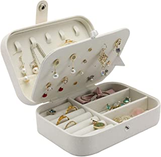 OZSTOCK Jewellery‎ Box Makeup Storage Ring Organiser Portable Travel Case Leather Holder