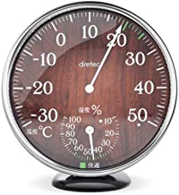 Higrometro Digital Termometro Higrometro Digital Relojes Jardin Hogar Termómetro Temperatura Y Medidor De Humedad Hogar De Alta Precisión Madera Vintage Color Higrómetro Mecánico