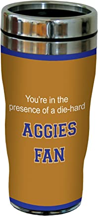 Tree-Free Greetings sg24588 Aggies College Football Fan Sip 'N Go Stainless Steel Lined Travel Tumbler,  16-Ounce