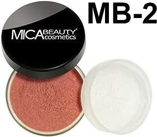 Bundle 2 Items: MicaBeauty Full Size Mineral Blush +Itay Premium Blush Brush (MB2 Desert Dusk)