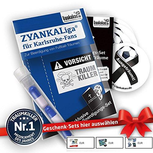 Karlsruhe Home Trikot ist jetzt ZYANKALIGA für KSC Fans by Ligakakao.de Puma Herren Home Shirt Replica mit Logo blau-weiß