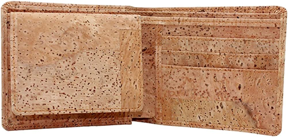 Purse wallet with mobile phone pouch RFID blocker flower cork vegan