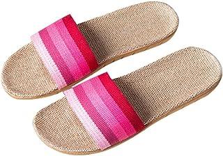 Gfengkuan Women Flip Flops Thick Bottom Slippers Loafers Wedges Flat Flip Flops Home Shoes Slippers Antislip Home Indoor Summer Slippers Sandals Shopping Flip Flops School Work Slippers