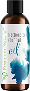 Fractionated Coconut Oil Massage Oil - Cold Pressed Pure MCT Oil for Essential Oils Mixing Dry Skin Moisturizer Natural Carrier Baby Oil for Face Hair & Body Therapeutic Aromatherapy Virgin Raw 4 oz