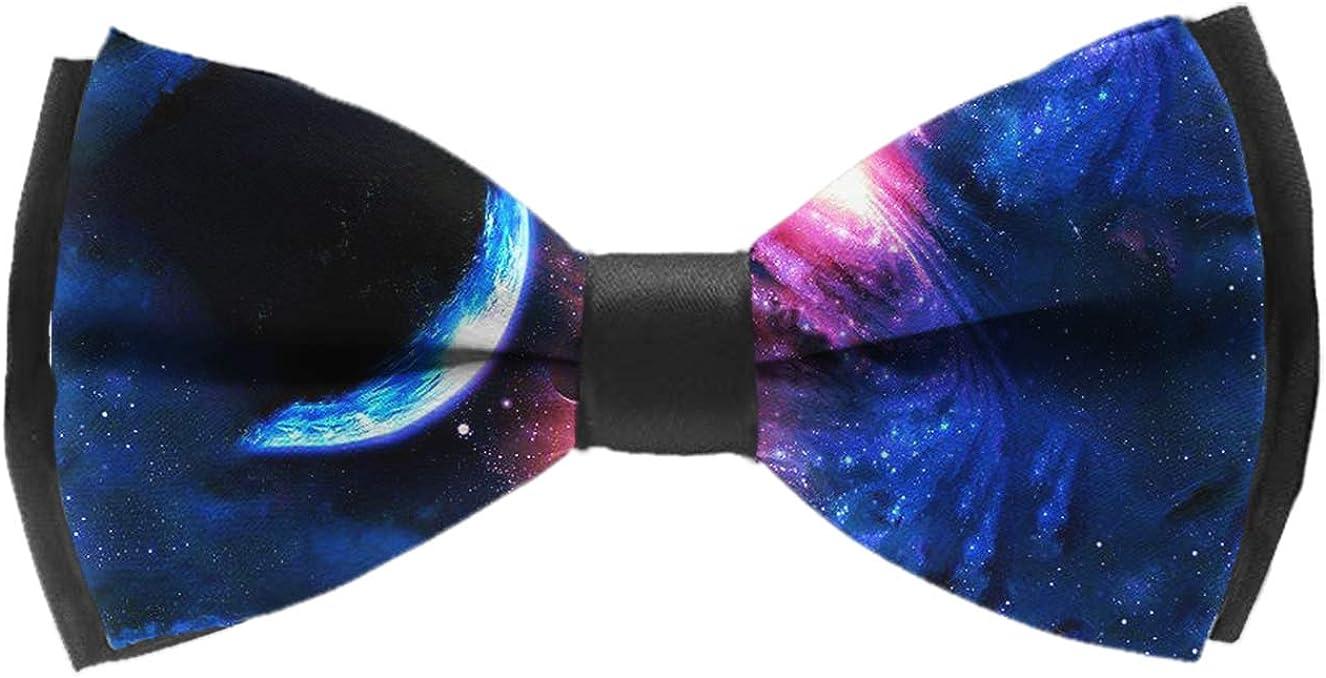 Elegant Adjustable Pre-tied bow ties for Men Boys cool blue pineapples black