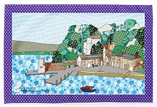 ILE BROWNSEA DORSET de MOLLYMAC, Décoration de cuisine mignonne. Serviette de cuisine Cadeau de remerciement peu coûteux. Présent pour anniversaire, mariage, Noël. Le torchon à vaisselle. Chiffon de cuisine coloré - Fabriqué au Royaume-Uni - 100% coton - 71 x 46 mm - Brownsea Island, Dorset