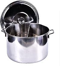 Voorraad Pot, 201 roestvrij staal twee -Flavored Pot, Huishouden/Commerciële Soep Emmer/Kookpot, voor Gasfornuis/Inductie ...