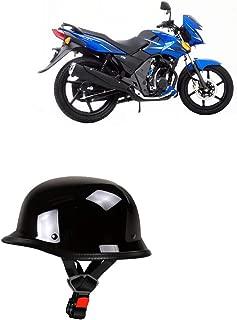 Adroitz Glossy Black Half Helmet for Yamaha Ray
