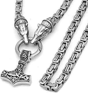 thor's hammer necklace sterling silver