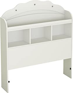 South Shore Tiara Collection Twin Bookcase Headboard - Pure White - Bedroom Furniture