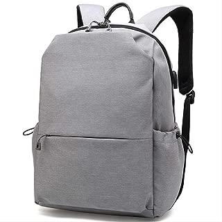 Backpack Business Men's Computer Shoulder Bag, Outdoor Travel Climbing Backpack, Large-Capacity Waterproof Anti-Theft Backpack 46cmx18cmx31cm Grey (Color : Grey, Size : 46cmx18cmx31cm)