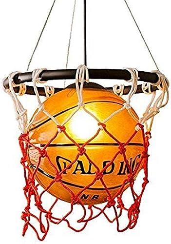 Verre pendentif lumière créatif cuivré simple lumière tête de basket-ball abat-jour