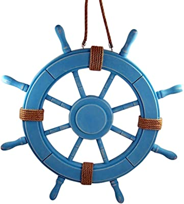 Amazon Com Nautical Decor 24 Wood Pirate S Ship Wheel Marine Decor Home Kitchen