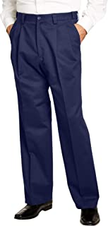KingSize Men's Big & Tall Relaxed Fit Wrinkle-Free Expandable Waist Pleated Pants