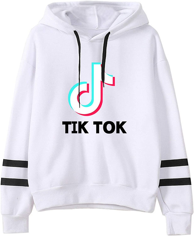 TIK-Tok Novelty Hoodies womens Fashion Ranking TOP2 Hoode Striped Sleeve Raleigh Mall Long