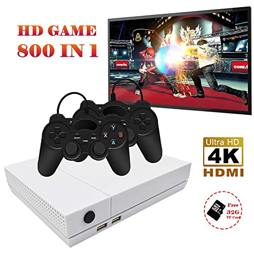 XinXu Retro Games Console 800+ Jeux TV Consoles de Jeux avec 2Pcs Joystick Famille Game Player