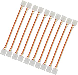 LEDENET 3pins 10mm LED Dual White Strip Light Quick Connectors To Strip Any Angel Turn No Welding Easy Solution DIY (10-pack)