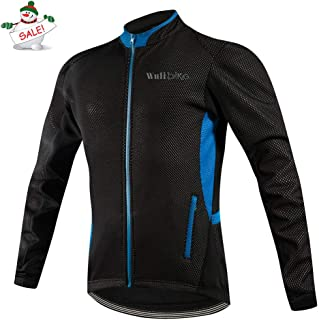 Lo.gas Men's Winter Cycling Jackets Warm Thermal Fleece Softshell Coat Water-Repellent Windproof