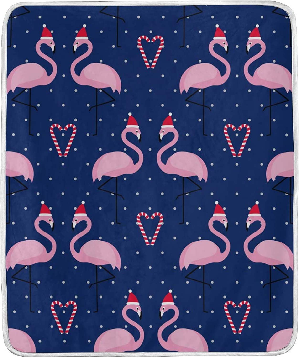 Vantaso Blankets Flamingo Xmas Hat Polka Dots Throws Soft Kids Girls Boys 50x60 inch